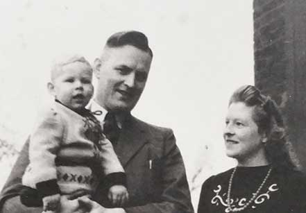 Hein, Marietje en Willy in 1946