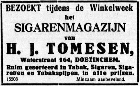 Advertentie Tomesen sigaren